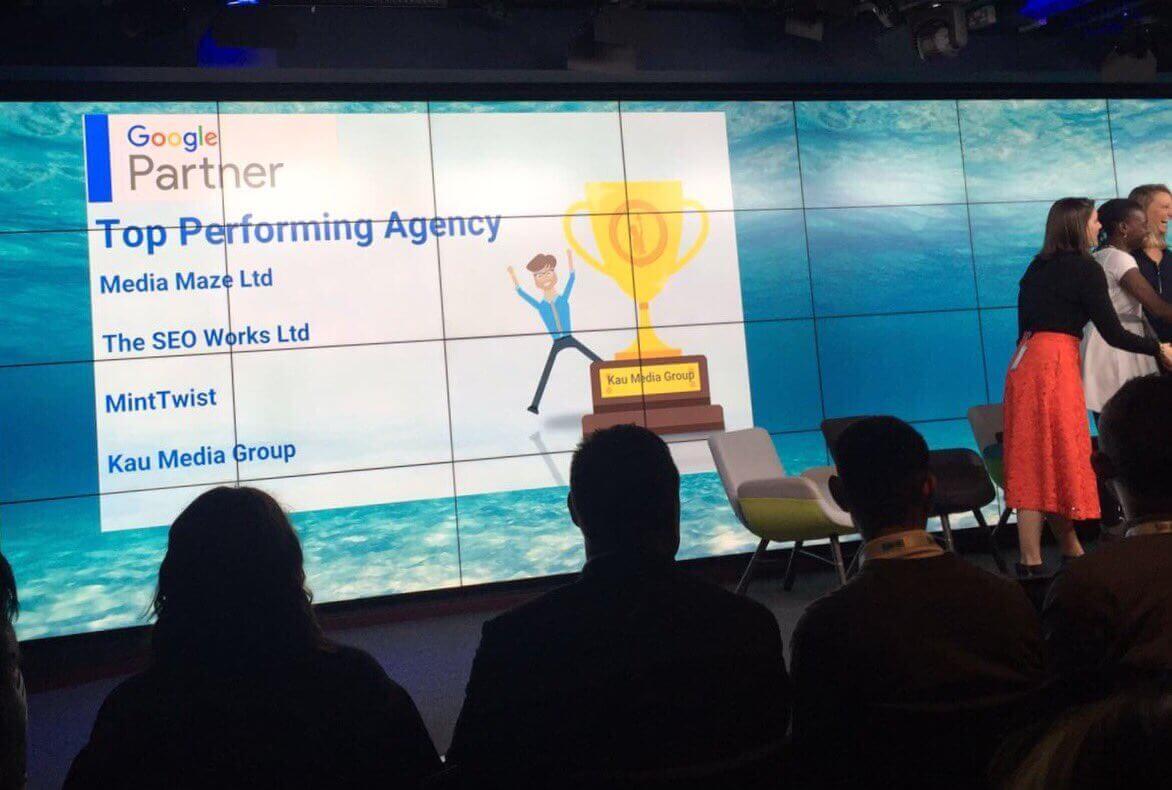 Google top performing agency
