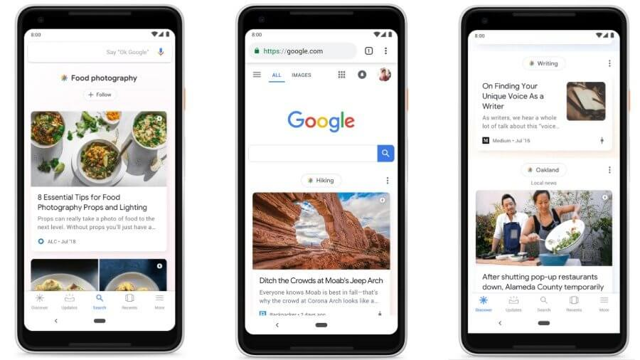 Google Rolls out Google Discover on Mobile