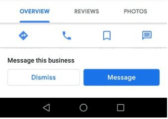 Google My Business Promotes Message This Business