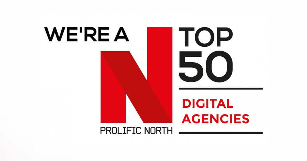 We're a Top 50 Digital Agency