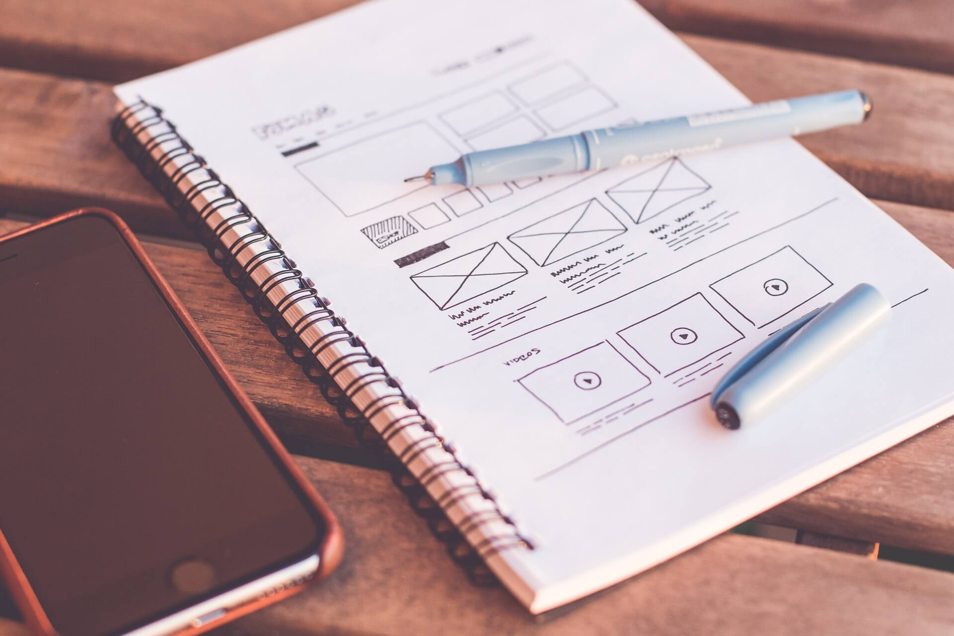 Web design services - wireframing example