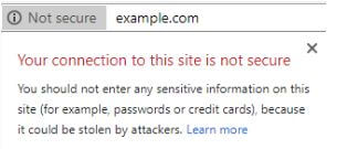 site security warning